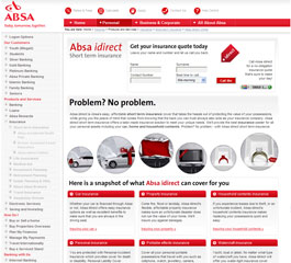 Absa Insurance Website