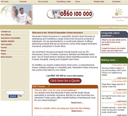 Alexander Forbes Insurance Website