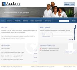 AllLife Insurance Website