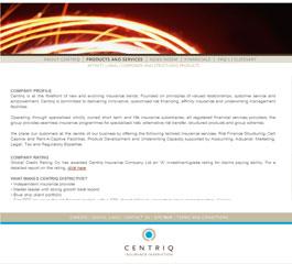 Centriq Insurance Website