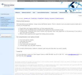 Investec Website