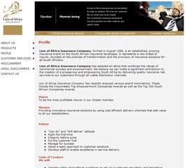 Lion of Africa Website