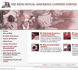 Rand Mutual Assurance Website